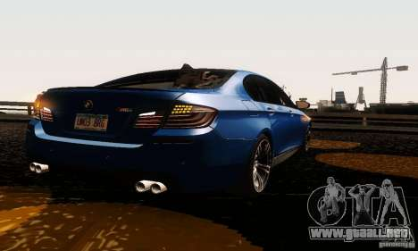 BMW M5 F10 2012 para GTA San Andreas left