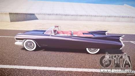 Cadillac Eldorado 1959 interior red para GTA 4 Vista posterior izquierda