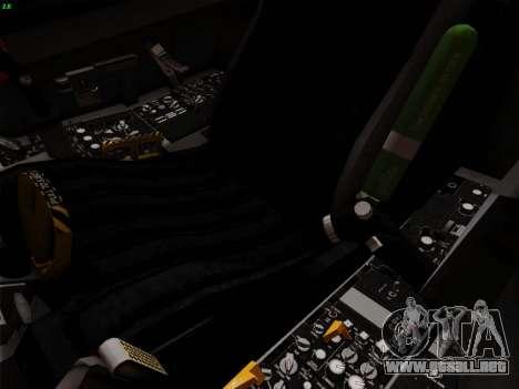 F-16C Warwolf para vista inferior GTA San Andreas