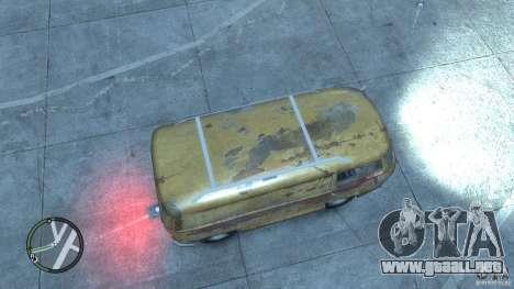 VW Transporter T2 para GTA 4 vista hacia atrás
