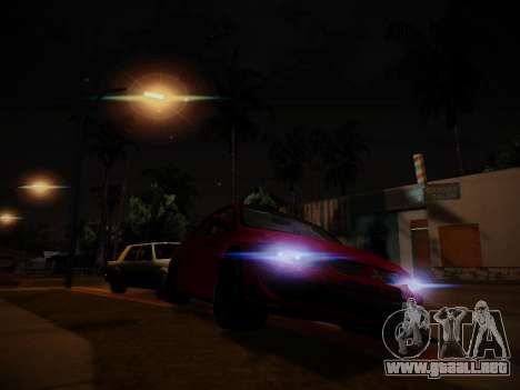 El resplandor de la luz para GTA San Andreas segunda pantalla