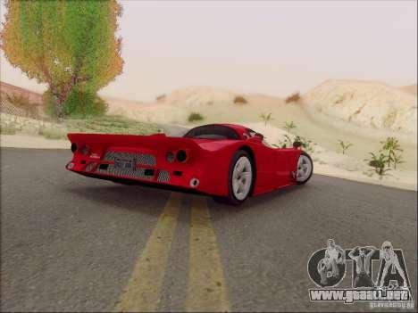Nissan R390 Road Car v1.0 para GTA San Andreas vista posterior izquierda