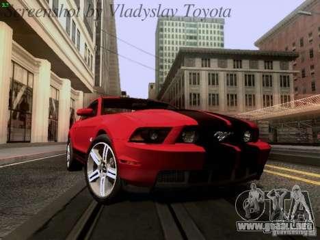 Ford Mustang GT 2011 para visión interna GTA San Andreas