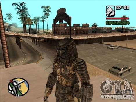 Predator Predator (la máscara) para GTA San Andreas tercera pantalla