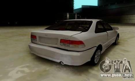 Honda Civic 1999 Si Coupe para GTA San Andreas interior
