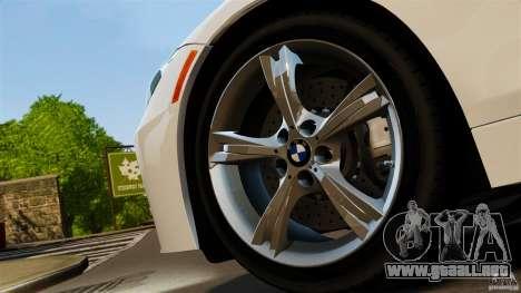 BMW Z4 sDrive 28is 2012 v2.0 para GTA 4 Vista posterior izquierda
