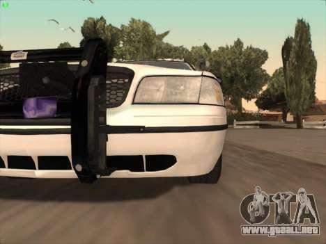 Ford Crown Victoria Vancouver Police para vista inferior GTA San Andreas