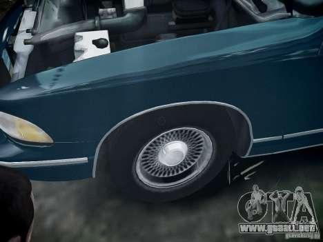 Chevrolet Caprice 1993 Rims 2 para GTA 4 vista hacia atrás