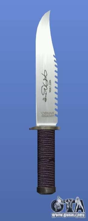 Cuchillo de Rambo con firma para GTA 4 tercera pantalla
