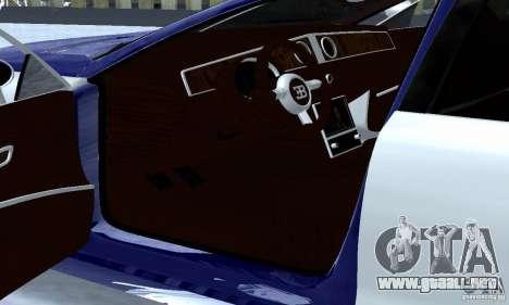 Bugatti Galibier 16c para visión interna GTA San Andreas