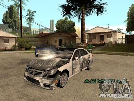 Mercedes-Bens e63 AMG para GTA San Andreas vista hacia atrás
