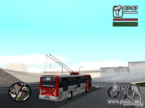 Caio Millennium TroleBus para la visión correcta GTA San Andreas