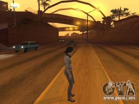 FaryCry 3 Liza Snow para GTA San Andreas quinta pantalla