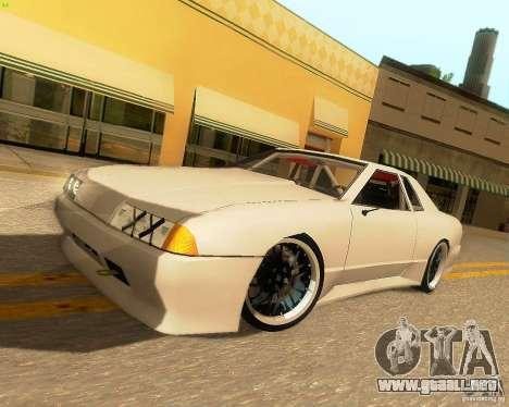 Elegy Drift Korch para GTA San Andreas vista posterior izquierda