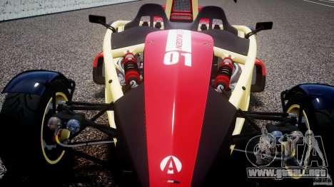 Ariel Atom 3 V8 2012 Custom Mugen para GTA 4 vista lateral