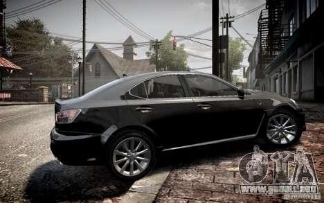 Lexus IS-F para GTA 4 left