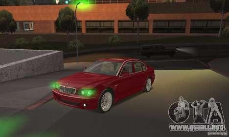 Luces verdes para GTA San Andreas segunda pantalla
