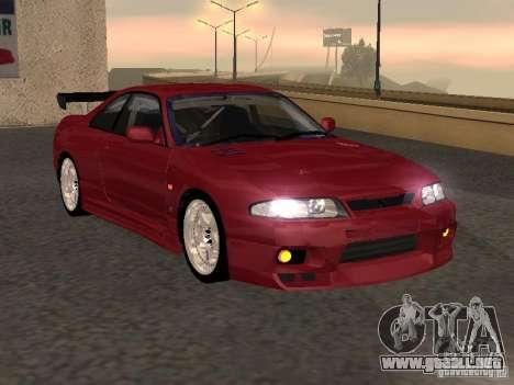 Nissan Skyline GT-R BCNR 33 para GTA San Andreas vista posterior izquierda