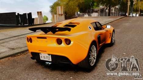 Lotus Exige 240 CUP 2006 para GTA 4 Vista posterior izquierda