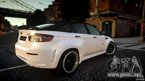 BMW X 6 Hamann para GTA 4 Vista posterior izquierda