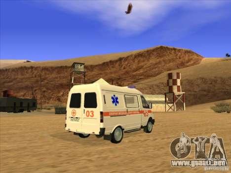 Ambulancia 22172 del GAS para GTA San Andreas left