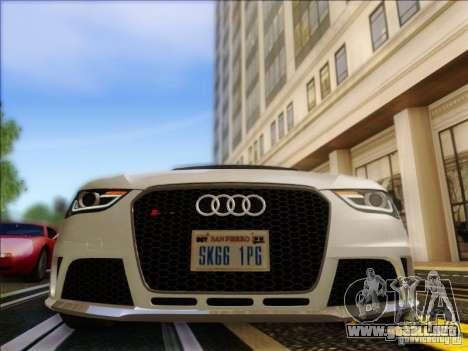 Audi RS4 Avant B8 2013 para GTA San Andreas vista hacia atrás