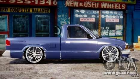 Chevrolet S10 1996 Draggin [Beta] para GTA 4 vista interior