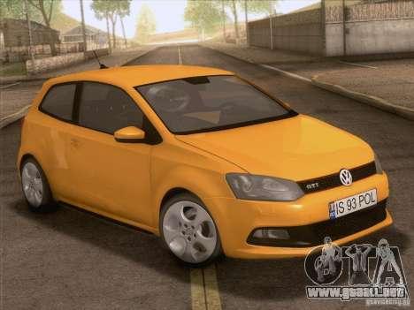 Volkswagen Polo GTI 2011 para la vista superior GTA San Andreas