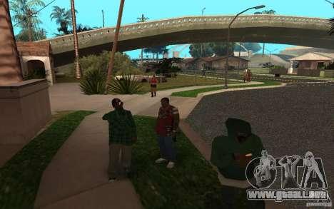 Skins Grove Street para GTA San Andreas sucesivamente de pantalla