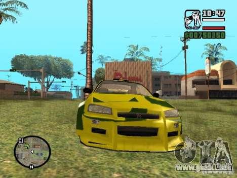 Nissan Skyline 2Fast 2Furious NEW para GTA San Andreas left