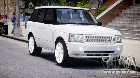 Range Rover Supercharged 2009 v2.0 para GTA 4 vista hacia atrás