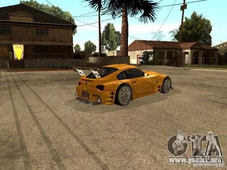 BMW Z4 Style Tuning para GTA San Andreas vista posterior izquierda