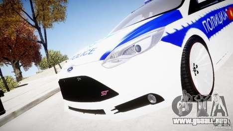 Ford Focus Macedonian Police para GTA 4 visión correcta