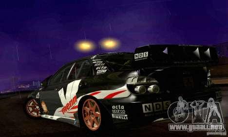 Subaru Impreza WRC 2007 para la vista superior GTA San Andreas