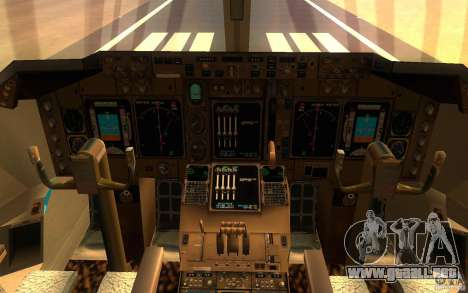 Boeing-747 Corsair Fly para GTA San Andreas left