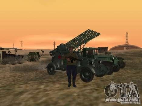 Oficial soviético BOB para GTA San Andreas sucesivamente de pantalla