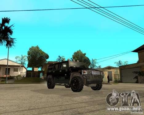 FBI Hummer H2 para visión interna GTA San Andreas
