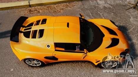 Lotus Exige 240 CUP 2006 para GTA 4 visión correcta