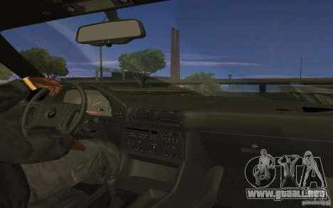 BMW 525 E34 V.3 para GTA San Andreas vista posterior izquierda