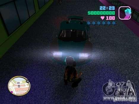Bugatti Veyron para GTA Vice City visión correcta