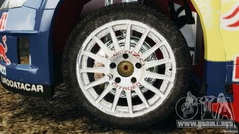 Citroen C4 WRC para GTA 4 vista hacia atrás