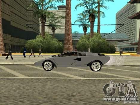 Lamborghini Countach LP400 para GTA San Andreas vista posterior izquierda