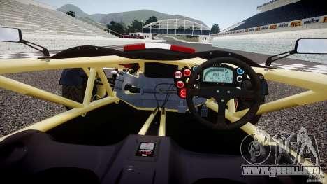 Ariel Atom 3 V8 2012 Custom Mugen para GTA 4 visión correcta