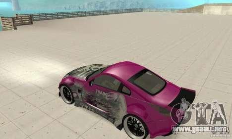 Nissan 350Z Tuning para GTA San Andreas vista hacia atrás