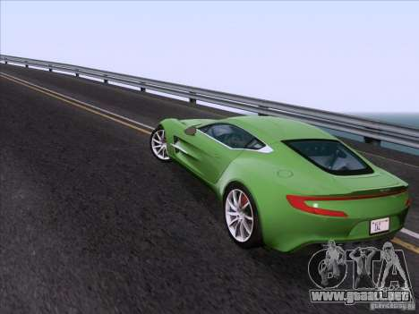 Aston Martin One-77 2010 para visión interna GTA San Andreas