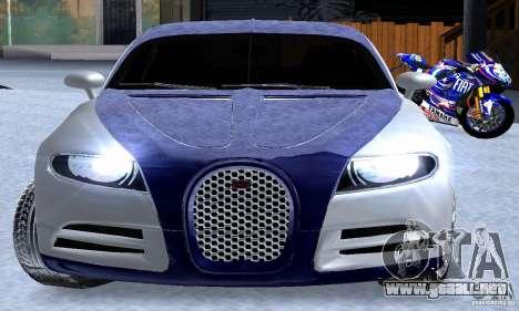 Bugatti Galibier 16c para la vista superior GTA San Andreas