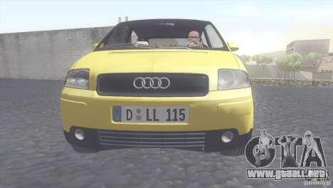 Audi A2 para GTA San Andreas vista posterior izquierda