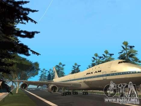 Boeing 747-100 Pan American Airways para GTA San Andreas left
