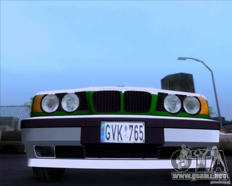 BMW E34 Policija para GTA San Andreas left