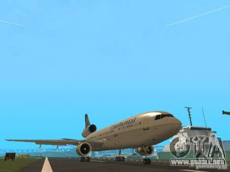 McDonell Douglas DC10 Continental Airlines para GTA San Andreas left